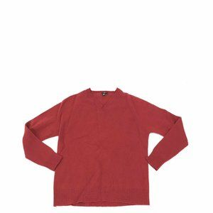 J. Crew Sweater Lambswool Mens XL Red V-Neck
